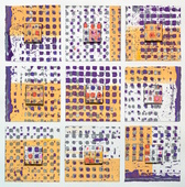 Terri Fridkin- Come Together 4 - mixed media monoprint