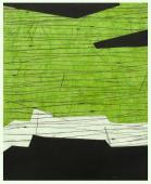 Terri Fridkin -Anse des Cayes 3-intaglio, monotype, chine colle