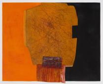 Teri Fridkin - East Meets West 2 - Monotype, Intaglio, Woodcut and Collage