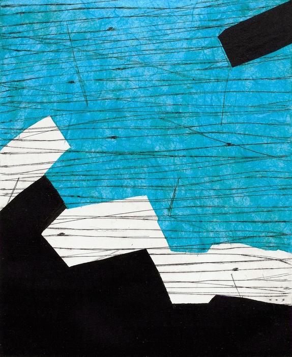 Terri Fridkin -Anse des Cayes 4-intaglio, monotype, chine colle